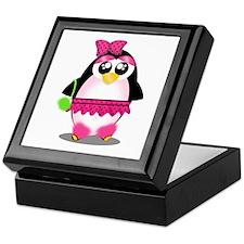 Hot Pink Penguin Keepsake Box