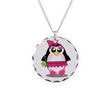 Hot Pink Penguin Necklace