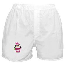 Hot Pink Penguin Boxer Shorts