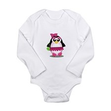 Hot Pink Penguin Body Suit