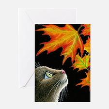 Cat 442 Greeting Card