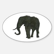 Elephant Sticker (Oval)