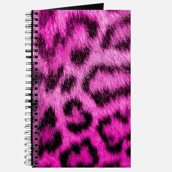 Pink Leopard Print Journal