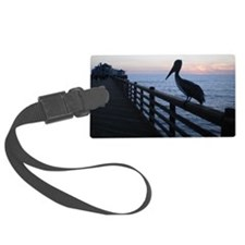 pelican at sunset Luggage Tag