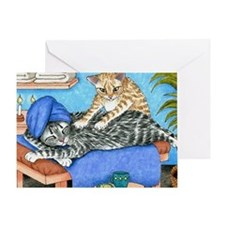 Cat 456 Greeting Card