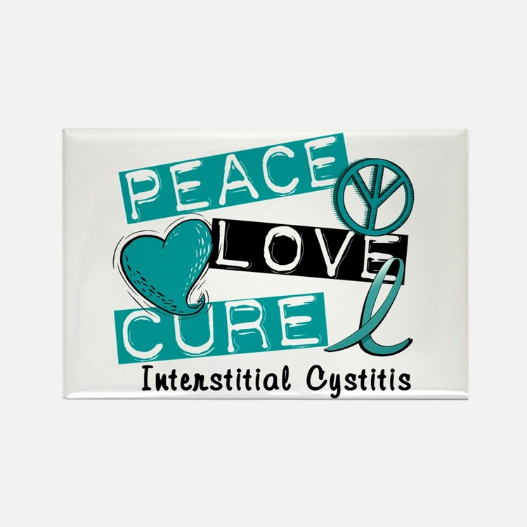 Peace Love Cure 1 Interstitial Cy Rectangle Magnet