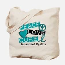 Peace Love Cure 1 Interstitial Cystitis Tote Bag