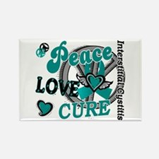 Peace Love Cure 2 IC Rectangle Magnet
