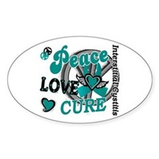 Peace Love Cure 2 IC Decal