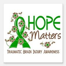 "Hope Matters 3 IC Square Car Magnet 3"" x 3"""