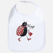 Ladybug Hugs Bib