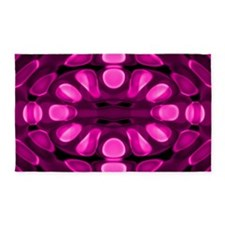 Graphic Pink 3'x5' Area Rug