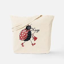 Ladybug Hugs Tote Bag
