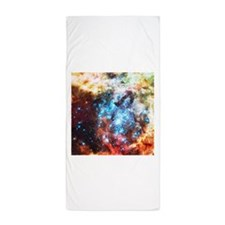Colorful Star Clusters Collision Beach Towel