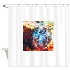 Colorful Star Clusters Collision Shower Curtain