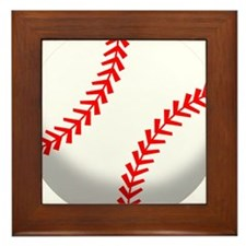 2-baseball.png Framed Tile