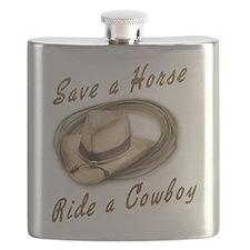save a horse cowboy hat Flask