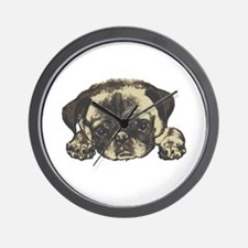 Pug Cutie Wall Clock