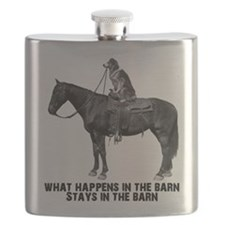 horse in the barn Flask