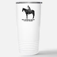 horse in the barn Travel Mug