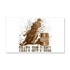 horse barrel racing roll Car Magnet 20 x 12