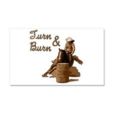 horse barrel racing burn Car Magnet 20 x 12