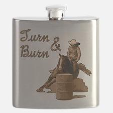 horse barrel racing burn Flask