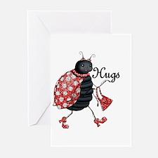 Ladybug Hugs Greeting Cards