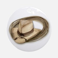 cowboy hat horses Ornament (Round)