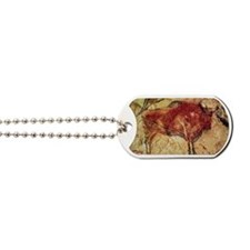 cave painting of bull Dog Tags