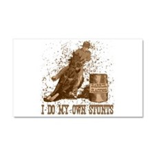 barrel horse racing stunts tee Car Magnet 20 x 12