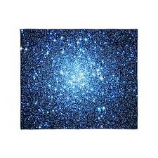Blue Star Cluster Throw Blanket