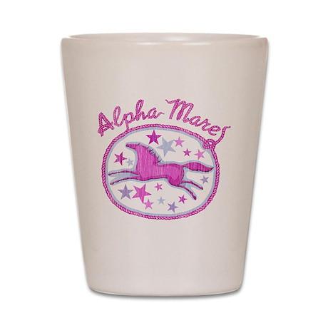 horses alpha mare pink horse Shot Glass