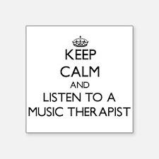 Keep Calm and Listen to a Music arapist Sticker