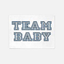 Team Baby Blue 5'x7'Area Rug