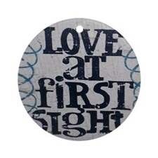 Love at first sight Round Ornament