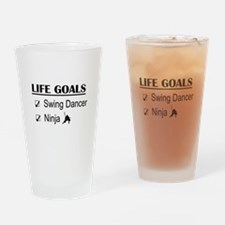 Swing Dancer Ninja Life Goals Drinking Glass