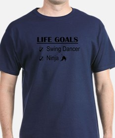 Swing Dancer Ninja Life Goals T-Shirt