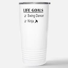Swing Dancer Ninja Life Stainless Steel Travel Mug