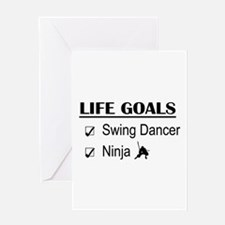 Swing Dancer Ninja Life Goals Greeting Card