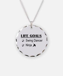 Swing Dancer Ninja Life Goal Necklace