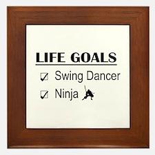 Swing Dancer Ninja Life Goals Framed Tile