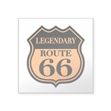 Legendary Rte. 66 Rectangle Sticker
