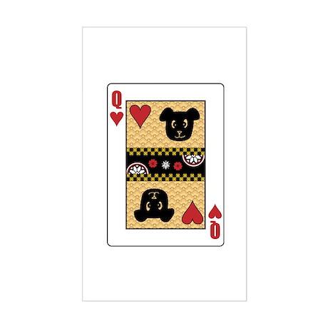 Queen Dog Rectangle Sticker