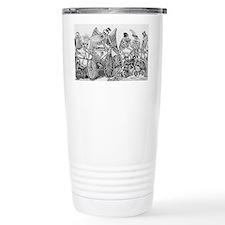 Posada, calaveras, cycl Travel Coffee Mug