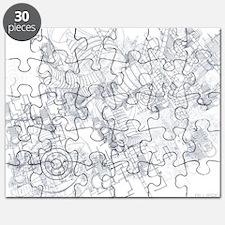 Blue Print Puzzle