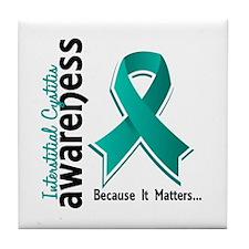 Awareness 5 Interstitial Cystitis Tile Coaster