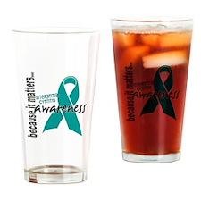 Awareness 1 Interstitial Cystitis Drinking Glass