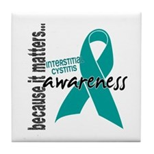 Awareness 1 Interstitial Cystitis Tile Coaster