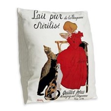 Steinlen Cats Burlap Throw Pillow